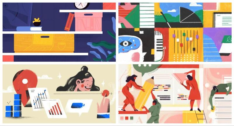 Graphic Design Trends 2020 - Abstract Illustrations 4