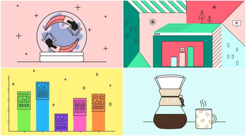 Graphic Design Trends - Dynamic and Complicated Hand-Drawn Illustrations 2