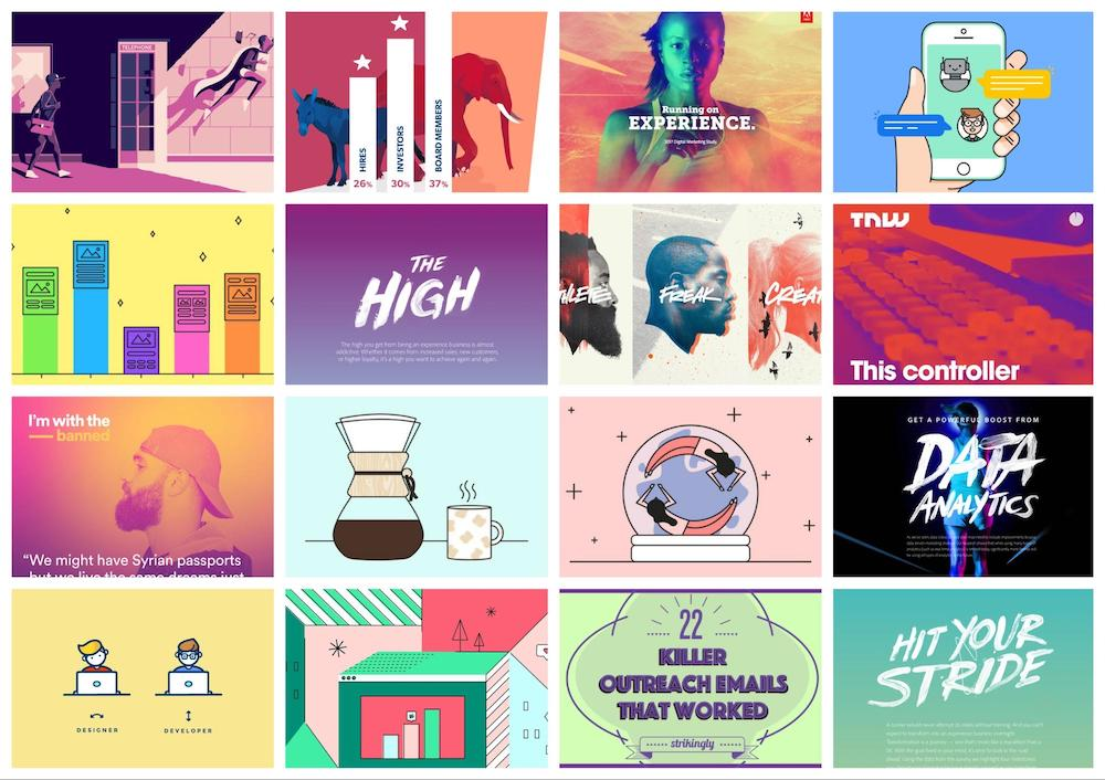 Graphic Design Trends Infographic - Unconventional colors everywhere 6