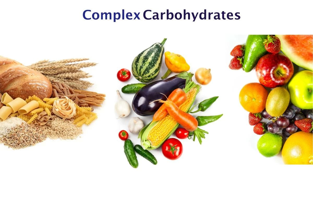 complex carbohydrates Complex carbohydrates: these other bad boys have a chemical structure that is made up of three or more sugars and are rich in fiber, vitamins and minerals because of their complexity, they take longer to digest, so they don't raise the sugar levels in the blood as quickly as simple carbs.