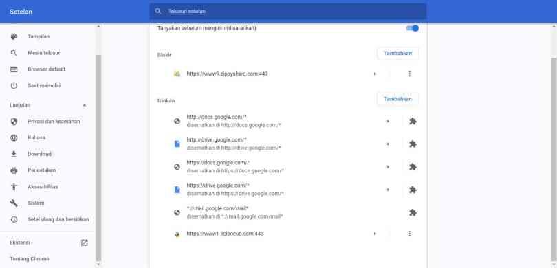 Cara menghilangkan Ecleneue dari Google Chrome
