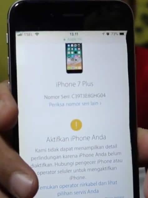 iPhone Belum Pernah Diaktifkan