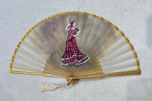 ventaglio flamenco chiaro