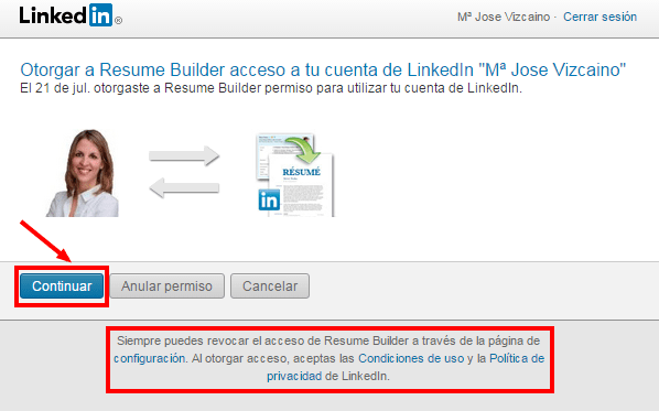 Autorizar   LinkedIn