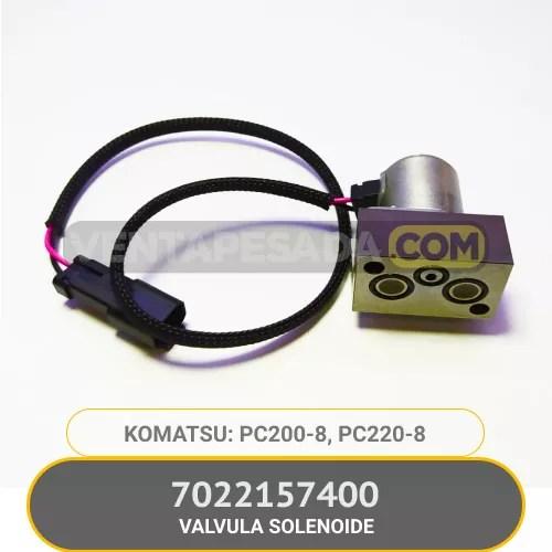 7022157400 VALVULA SOLENOIDE PC200-8, PC220-8, KOMATSU