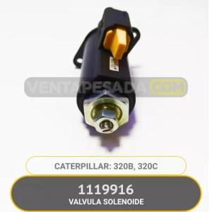1119916 VALVULA SOLENOIDE 320B 320C CATERPILLAR