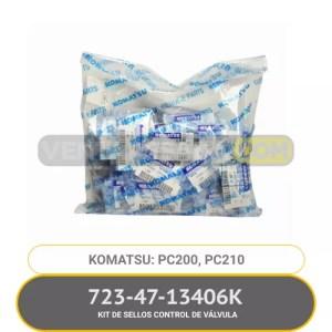 723-47-13406K KIT DE SELLOS CONTROL DE VÁLVULA PC200 PC3210 KOMATSU