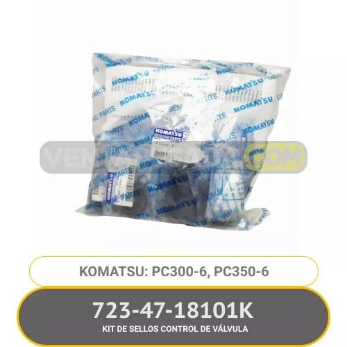 723-47-18101K KIT DE SELLOS CONTROL DE VÁLVULA PC300-6, PC350-6, KOMATSU