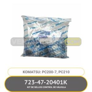 723-47-20401K KIT DE SELLOS CONTROL DE VÁLVULA PC200-7 PC210 KOMATSU