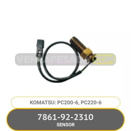 7861-92-2310 SENSOR PC200-6, PC220-6, KOMATSU