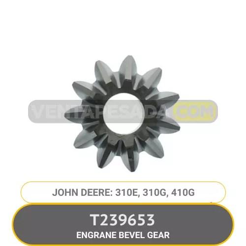 T239653 BEVEL GEAR 310E, 310G, 410G JOHN DEERE 2