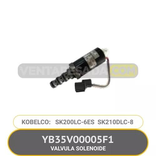 YB35V00005F1 VALVULA SOLENOIDE SK200LC-6E SK210DLC-8 KOBELCO