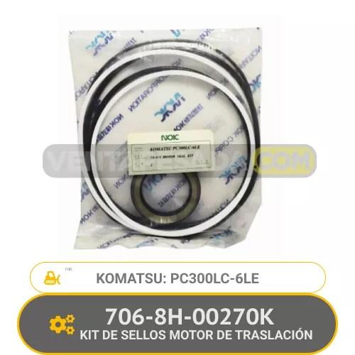706-8H-00270K KIT DE SELLOS MOTOR DE TRASLACIÓN PC300LC-6LE KOMATSU