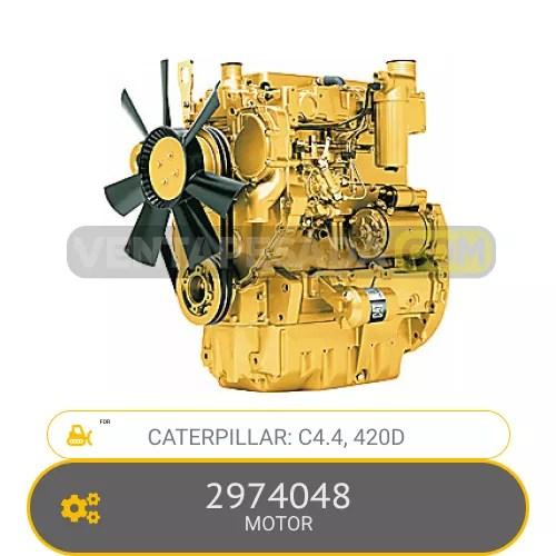 2974048 MOTOR C4.4, 420D, CATERPILLAR