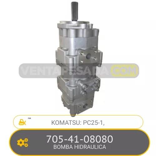 705-41-08080 BOMBA HIDRAULICA PC25-1, KOMATSU