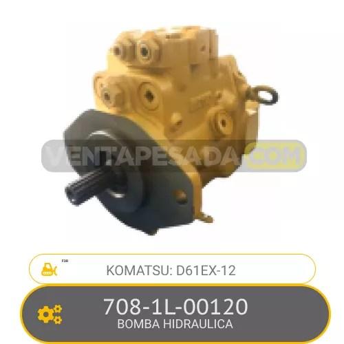 708-1L-00120 BOMBA HIDRAULICA D61EX-12 KOMATSU