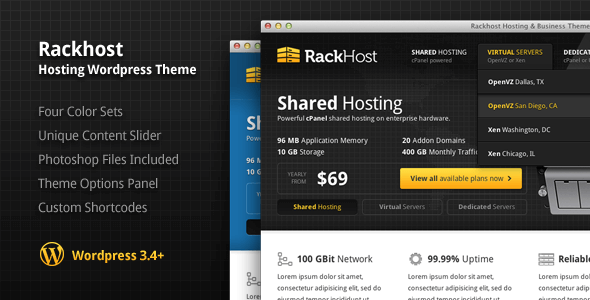 Rackhost Hosting WordPress Theme
