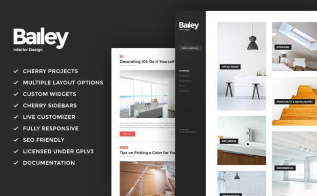 Bailey - Furniture & Interior Design WordPress Theme