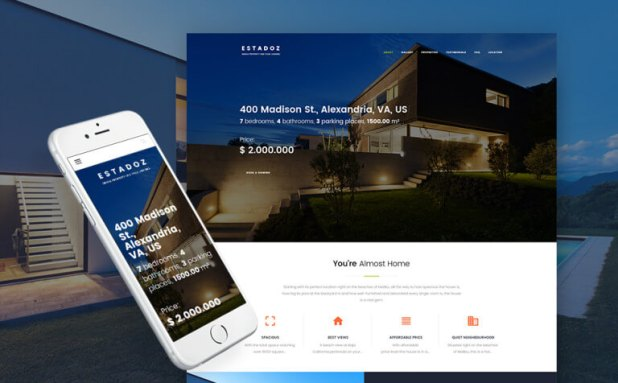 Estadoz - Real Estate Agency WordPress Theme
