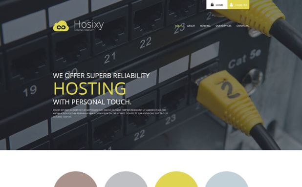 Hosting Company WordPress Theme