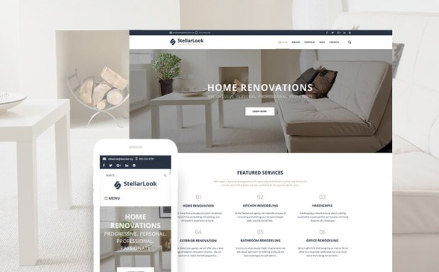 StellarLook - Renovation & Interior Design WordPress Them