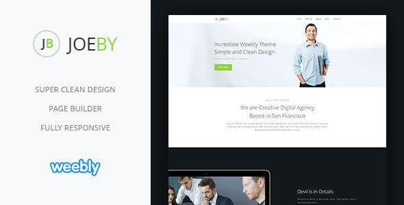Joeby | Responsive Multipurpose Weebly CMS Theme