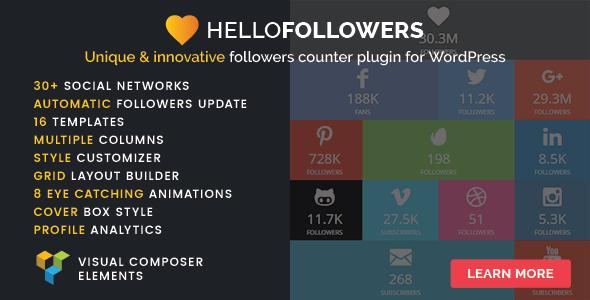 Hello Followers - Social Counter Plugin for WordPress
