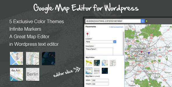 Google Maps Editor for WordPress