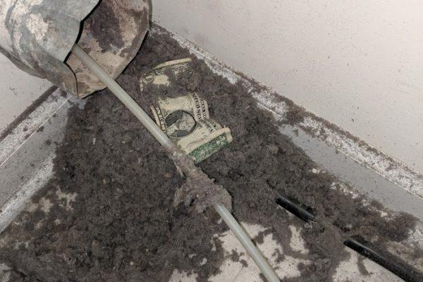 money in your dryer vent