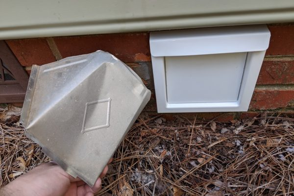 replaced crushed vent hood