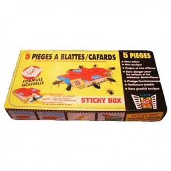 <CENTER>PIÈGES A COLLE POUR CAFARDS ET BLATTES STICKY BOX</CENTER>