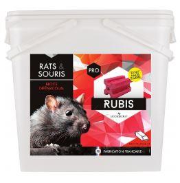 APPÂT SOUS FORME DE BLOC ANTI RATS ET SOURIS RUBIS BLOC (SEAU DE 10KG)