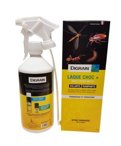 Digrain laque choc + 1L pour tuer tous types d'insectes volants et rampants