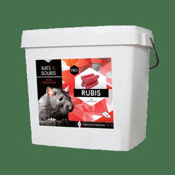 Poison raticide et souricide Rubis Bloc