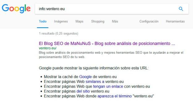 comando google info