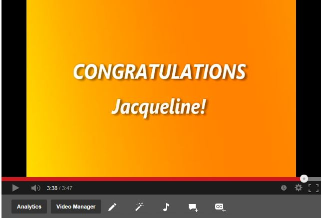 Jacqueline Gerrie Climbs the Ladder of Success!