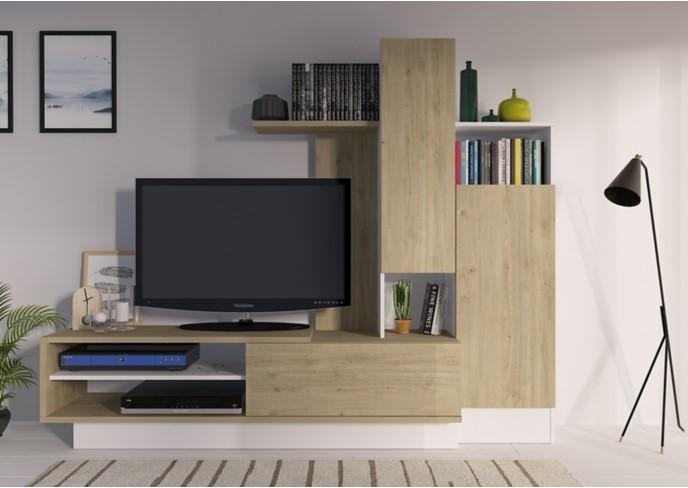 meuble tv foster imitation chene et