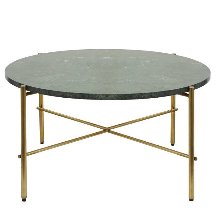 table basse ronde pietra en marbre vert