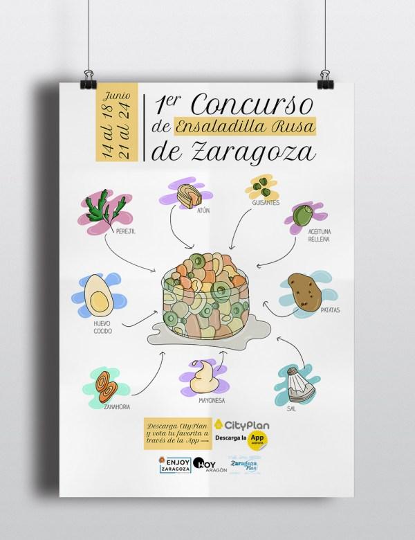 Cartel Concurso Ensaladilla para Enlazarte Comunicación