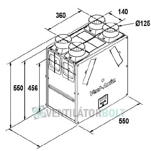 Vent-Axia KINETIC B hővisszanyerős szellőztető rendszer