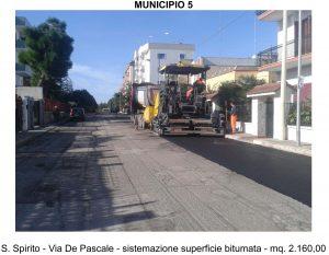 16-08-16 manutenzione strade Municipio 5 - via De Pascale (1)
