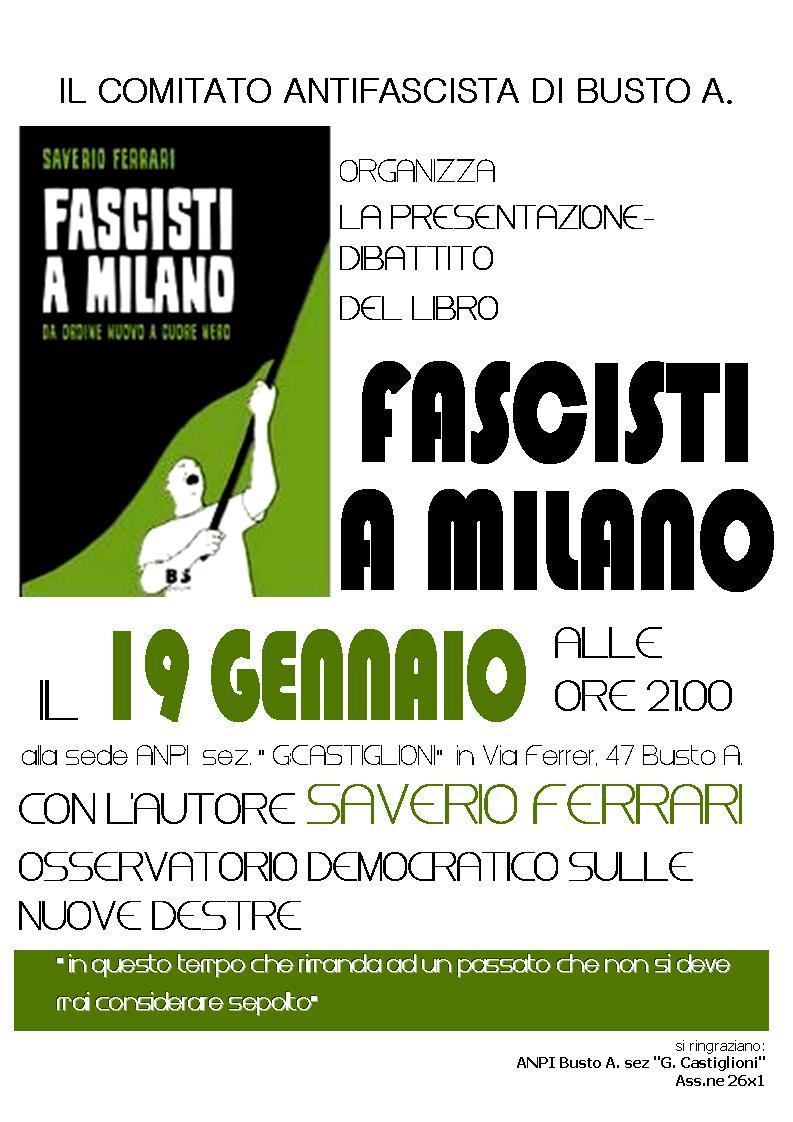 Saverio Ferrari presenta Fascisti a Milano