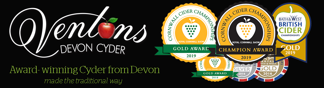 Award-winning ciders from Ventons Devon Cyder - Find Us