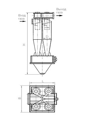 ЦН-15-650-4УП Циклон