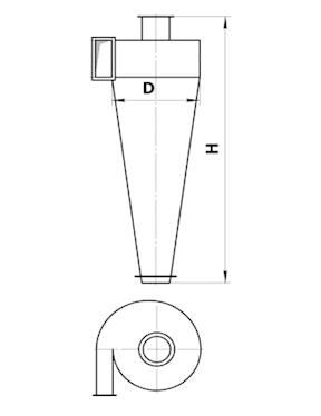 Циклон СДК-ЦН-33-1000