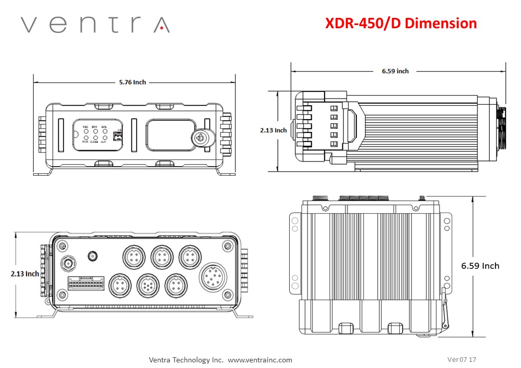 XDR-450D Ventra 5 CH Hybrid Mobile DVR for Safety and Security