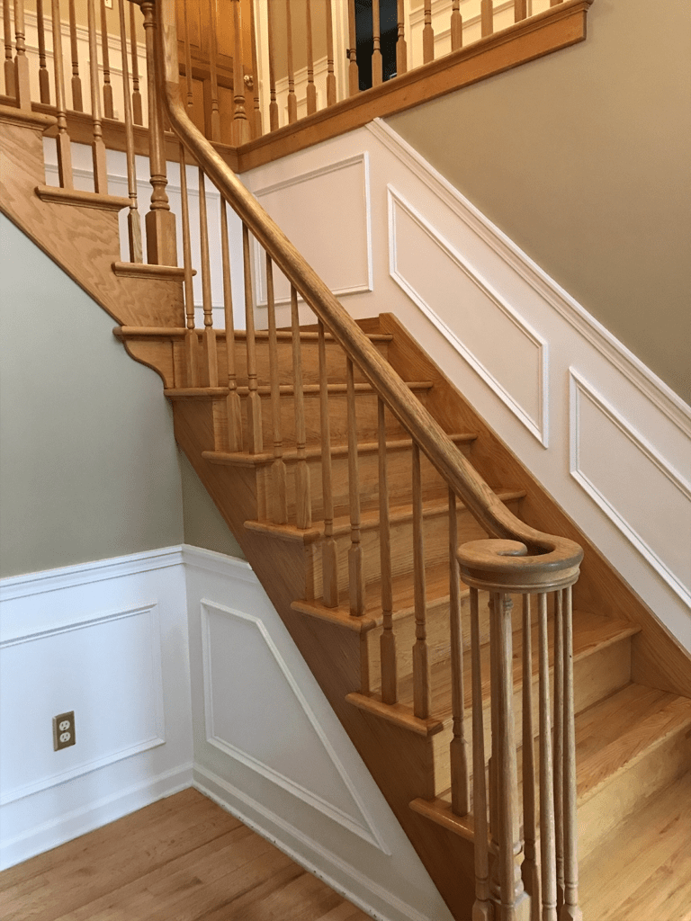 Hardwood Flooring Installation Services On Stairs In Syracuse Ny   Wood Floors And Stairs   Inside   Red Oak   Cherry Wood   Combined Wood   Rustic Wood
