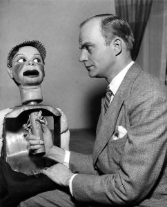 Charlie McCarthy carved by Ted Mack