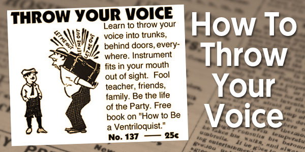 How To Throw Your Voice | International Ventriloquist Society