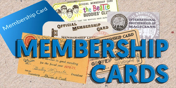 Collectible Membership Cards